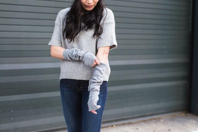 Barrie Street Style Knitwear Chanel Cashmere Paris New York Street Style