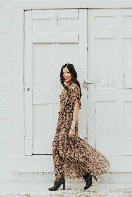 Zimmermann dress street style paris nyc park city fashion Chloé girl